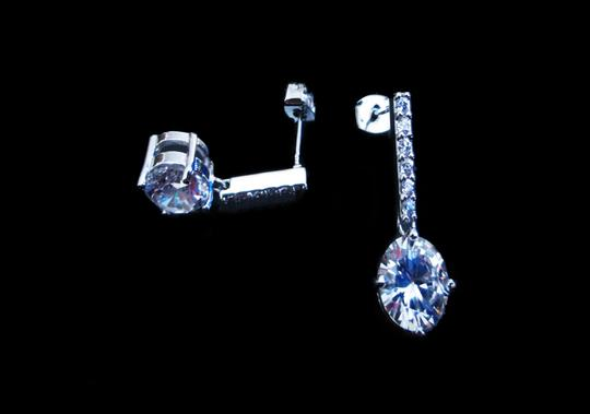 Other Awesome Pave Bar+Round CZ Earrings