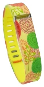 Other NEW Yellow Floral Replacement Band Bracelet for Fitbit Flex with Clasp Large L