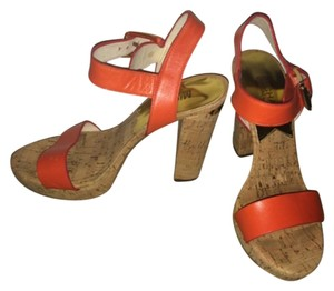 Michael Kors Cork heel/ orange Platforms