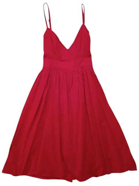 Item - Red Sundress Cotton A-line Above Knee Short Casual Dress Size 6 (S)
