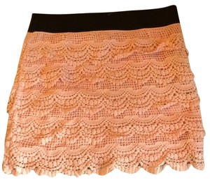 Charlotte Russe Mini Skirt Peach