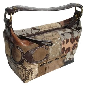 Coach Leopard Snakesin Tote in Patchwork
