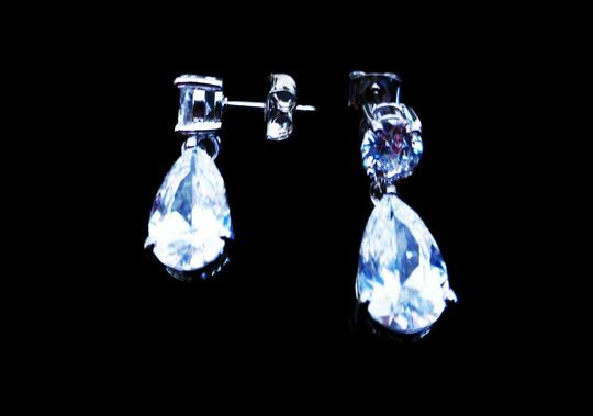 Other Oprah Round+Pear CZ Earrings