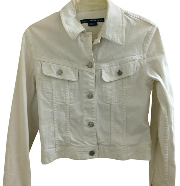Ralph Lauren Blue Label White Womens Jean Jacket