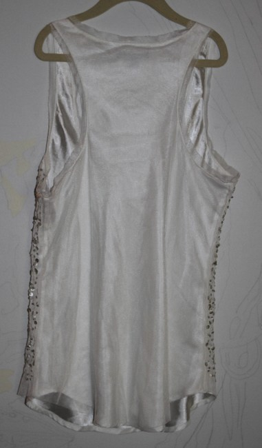 American Eagle Outfitters Top Ivory with sequins