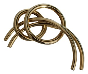 Gold Double O Arched Brooch