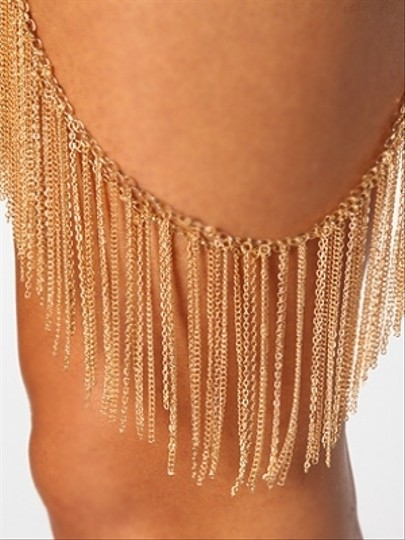 karmaloop Gold Leg Harness Wrap