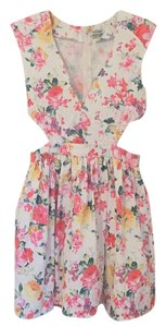 Xtaren short dress White floral motif on Tradesy