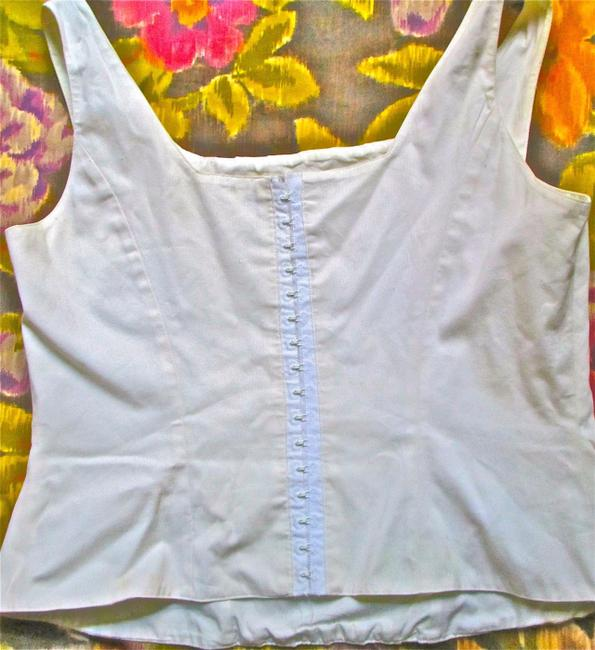 Anne Fontaine Corset Summer Sexy Hooks Zippers Top white