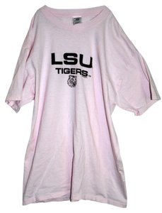 Jerzees T Shirt Pink and Purple LSU Tiger