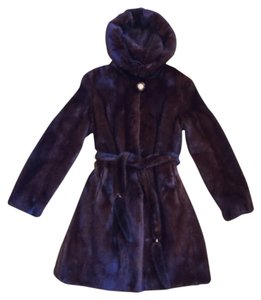 Natural solid mink coat Fur Coat
