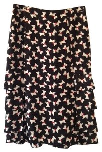 Moschino Couture Pencil Skirt Black with white Scottish Terriers