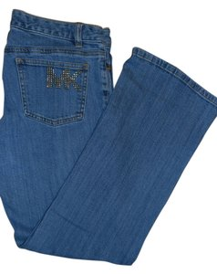 Michael Kors Denim Studded Boot Cut Jeans-Medium Wash