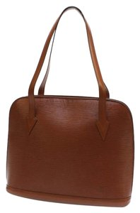 Louis Vuitton Lussac Epi Brown Sac Shopping Shoulder Bag