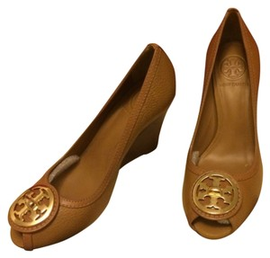 Tory Burch Selma Royal Tan Wedges