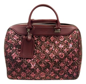 Louis Vuitton Limited Edition Sunshine Express Speedy Lv Monogram Musthave Satchel in Burgundy