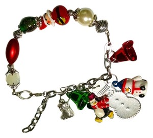 Other New Handmade Christmas Charm Bracelet Snowman Santa Stocking J1211