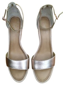Seychelles Nude & Rose Gold Sandals