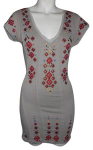 Free People Embroidered Knit Sequins Dress