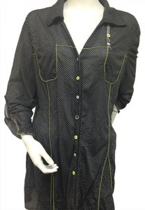 zoe&zac Button Down Shirt Black White