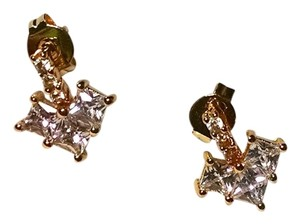 New 14K Gold Filled Cubic Zirconia Stud Earrings Arrow J1213