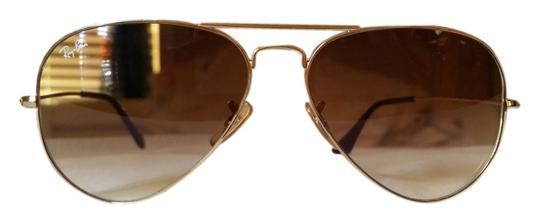 4341c36254be6 Ray-Ban Brown Gold Rb3025 001 51 Arista Metal Frame Gradient 58 14 ...