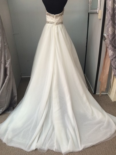 Cristiano Lucci Ivory Tulle and Lace Leighton Wedding Dress Size 6 (S)