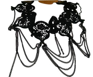 Other New Lace Slave Jewelry Necklace Black Lace Chain J1216