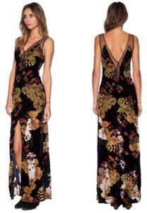 For Love & Lemons Sheer Velvet Dress
