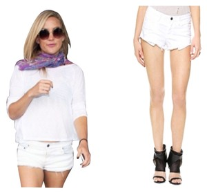 IRO Cut Off Shorts White