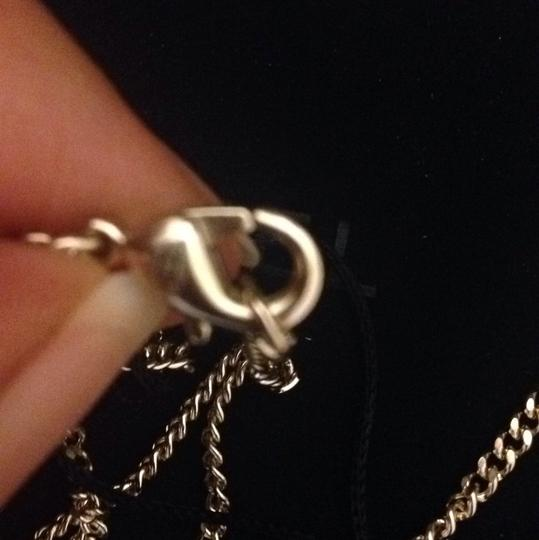 Chanel small Cc Logo Black And Crystal Golden Tone Necklace