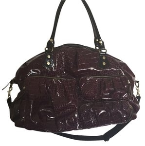 Target Burgandy, Black, Gold Travel Bag