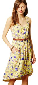 Anthropologie Laguna Racerback Dress short dress Yellow on Tradesy