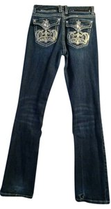 LA Idol Size: 5 Boot Cut Jeans-Dark Rinse
