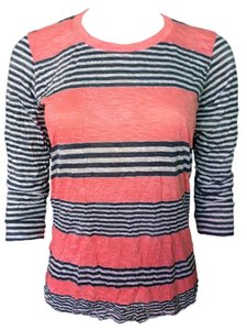 David Cline T Shirt Salmon Stripe