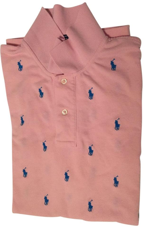 Ralph Lauren Pink Men S Polo Shirt Special Polo Logo Edition