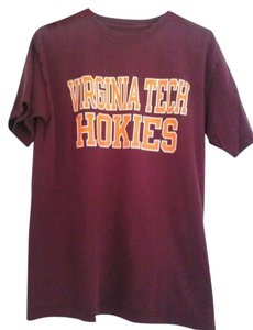 Red Oak T Shirt Burgandy and Orange