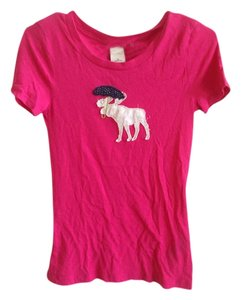 abercrombie kids Cotton Logo T Shirt Pink
