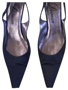 Delman Elegant Satin Sling Backs 10m Pumps