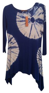 Belldini Jean Top Royal Blue and White