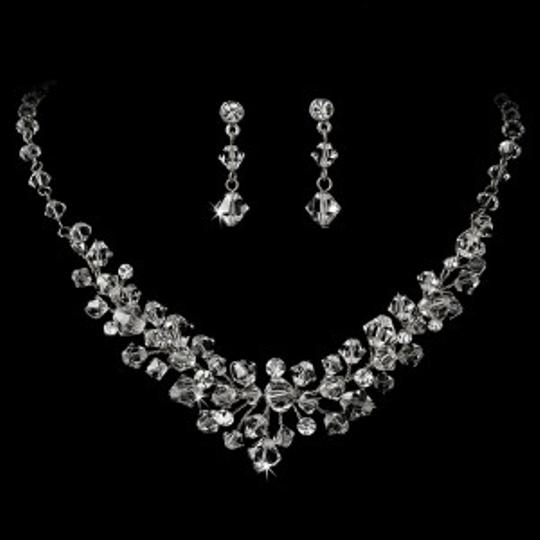 Elegance by Carbonneau Silver/Silver Crystal Jewelry Set