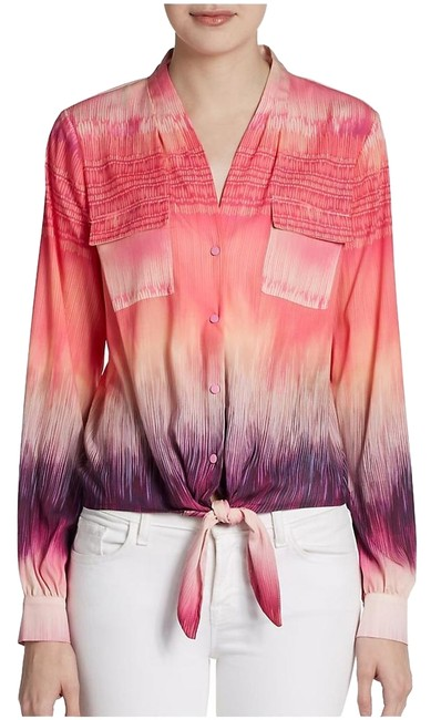 Preload https://item5.tradesy.com/images/catherine-malandrino-pink-and-purple-new-tie-front-blouse-size-2-xs-5466544-0-0.jpg?width=400&height=650