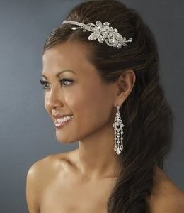 Elegance By Carbonneau Side Accent Wedding Headband