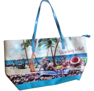 Maurices Beach Print Summer Tote