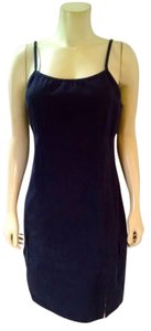 Billabong short dress navy blue Size 11 Sleeveless Knee Length Summer P1660 on Tradesy