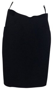 Saint Laurent Rive Gauche Velvet Skirt Black
