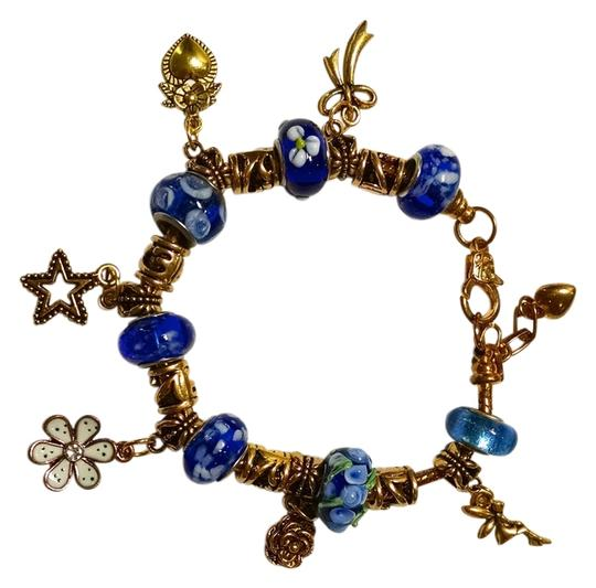 Other New European Charm Bracelet 19 Removable Charms Gold J1218