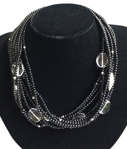 Silpada Black and Glass beaded multi strand necklace