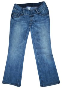 Motherhood Maternity Blue Faded Stretchy Denim Bootcut Jeans