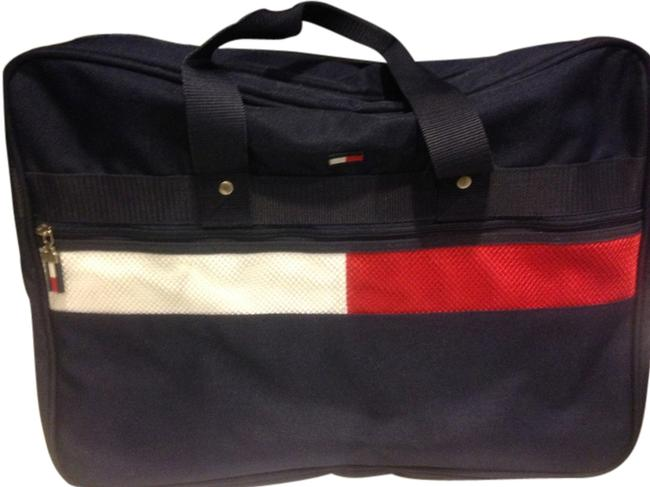 Item - Th Navy Blue Red & White Cloth Weekend/Travel Bag